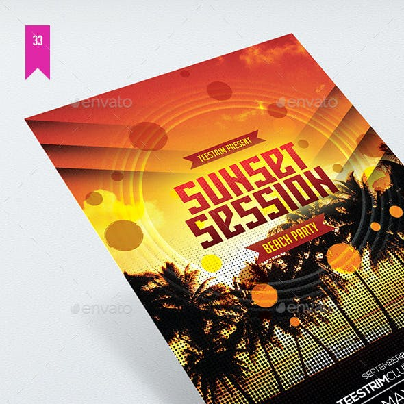 Sunset Session - Flyer Template