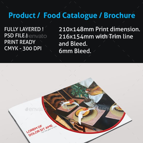 Product / Food Catalogue / Brochure