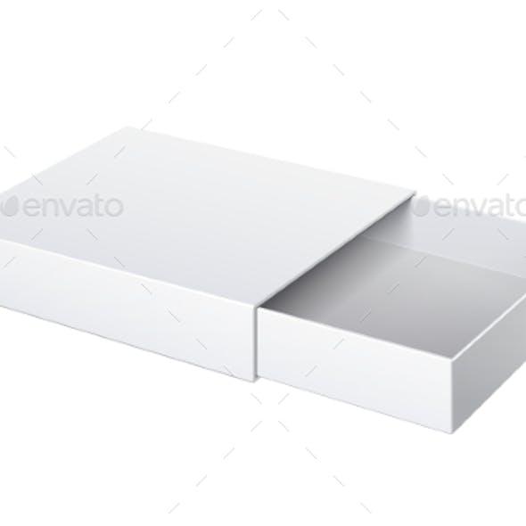 Package Cardboard Sliding Box Opened