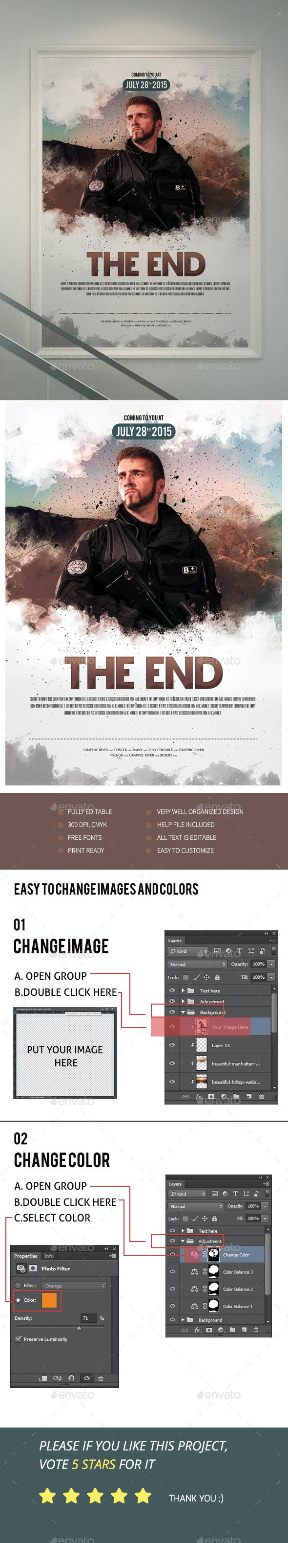 The End Movie Poster/Flyer II - Events Flyers
