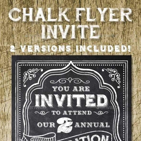 Chalk Style Invite