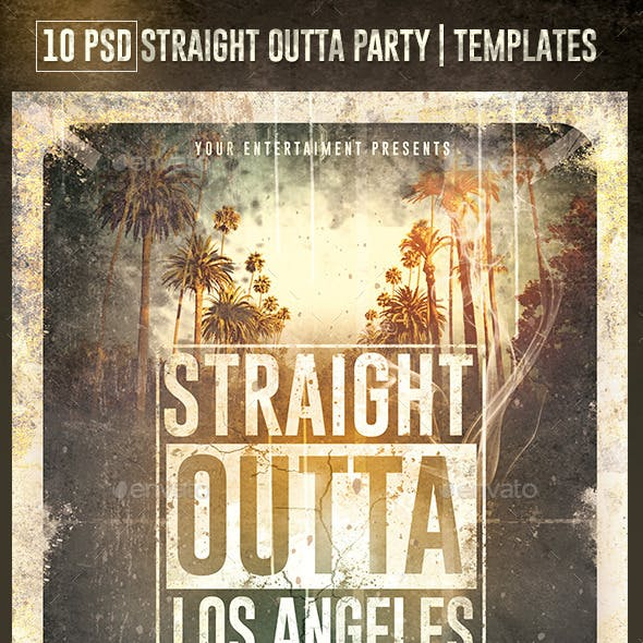 10 Flyers Straight Outta Party | Psd Templates