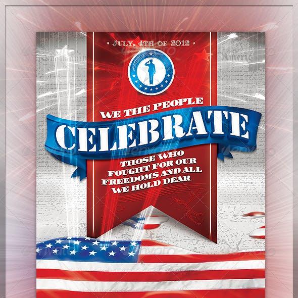 Celebrate 4th of July Flyer