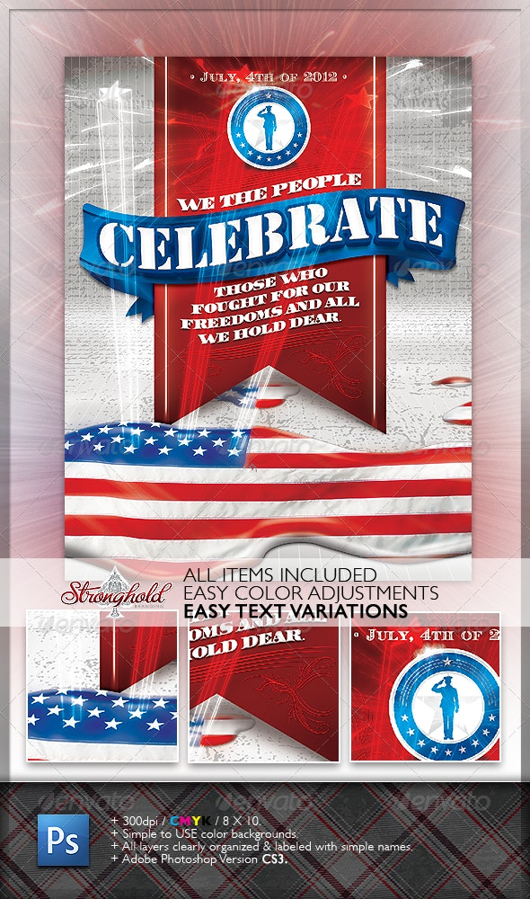 Celebrate 4th of July Flyer - Miscellaneous Events
