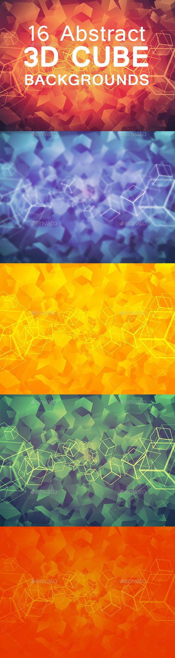 16 Abstract 3D Cube Backgrounds - Abstract Backgrounds
