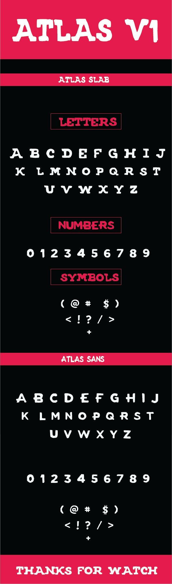 ATLAS FONT V1 - Decorative Fonts