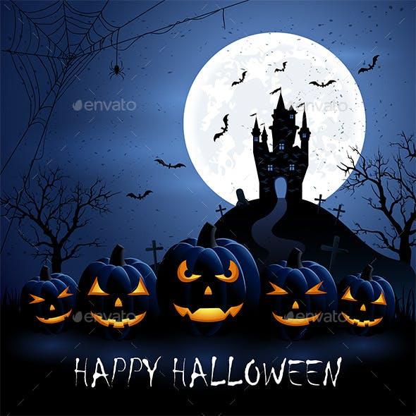 Halloween Pumpkins and Castle
