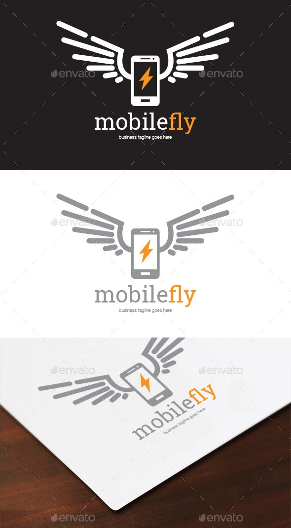 Mobile Fly Logo - Objects Logo Templates
