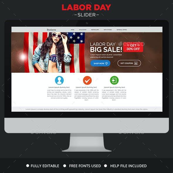 Labor Day Sale Slider