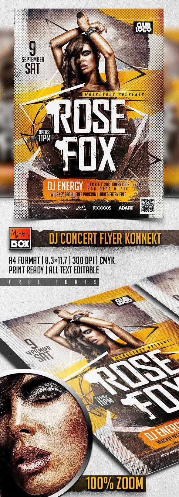 DJ Concert Flyer Konnekt - Concerts Events