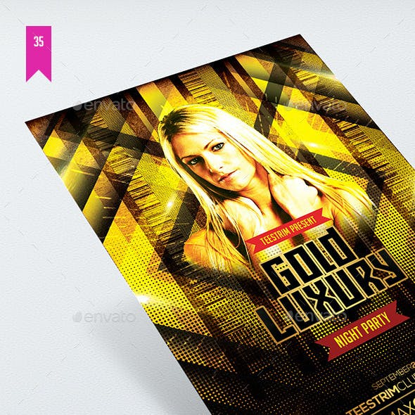 Gold Luxury - Flyer Template