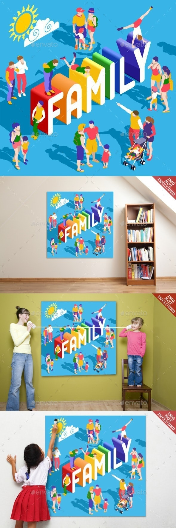 Rainbow Family People Isometric - People Characters