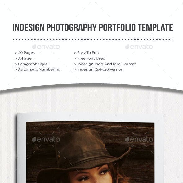 indesign photography portfolio template