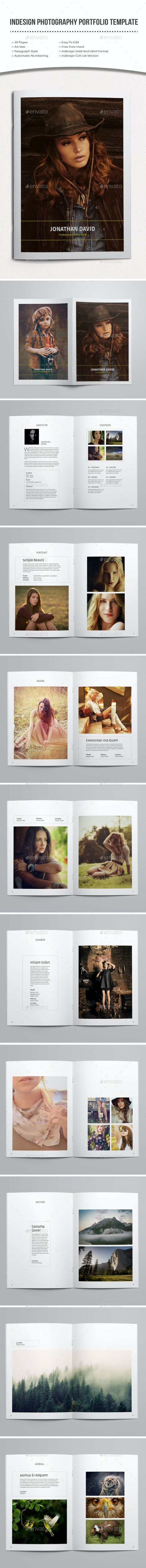 indesign photography portfolio template - Portfolio Brochures