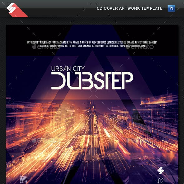 Urban City Dubstep vol.2 - CD Cover Template