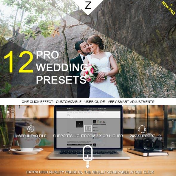 12 Pro Wedding Presets