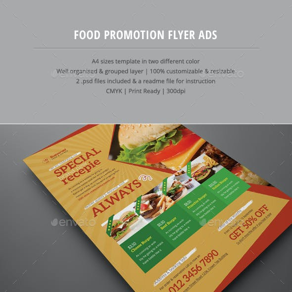 Food Promotion Flyer Ads