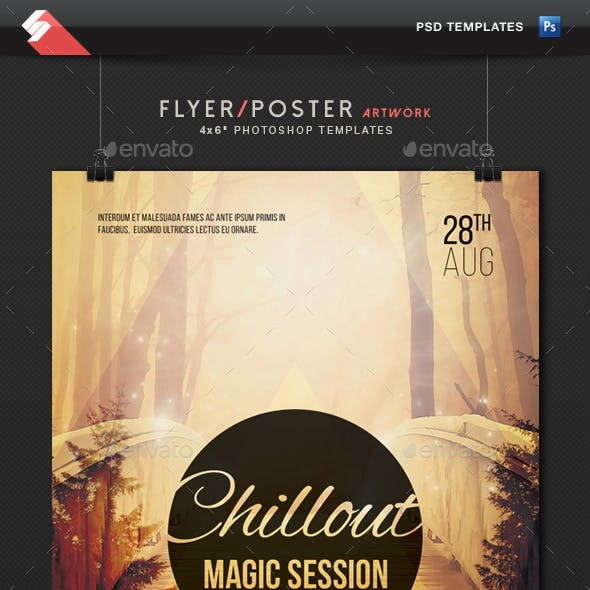 Chillout Magic Session - Event Flyer Template