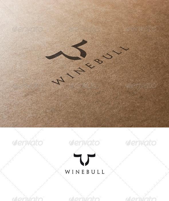 Bull and Wine Logo - Animals Logo Templates