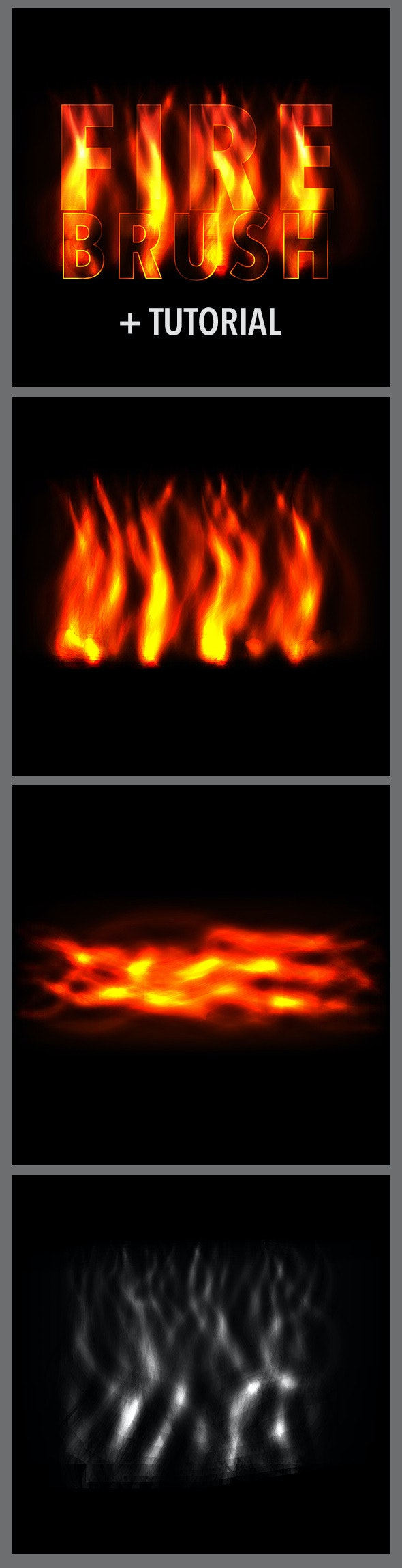 Fire Brushes for Realistic Effect - Abstract Brushes