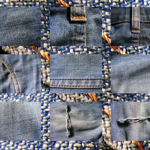 9 jean textures