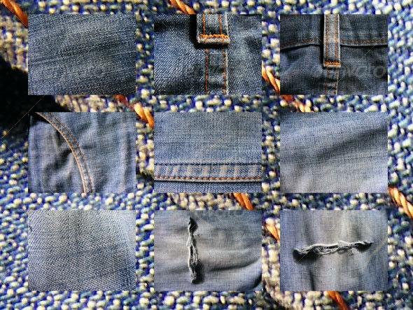 9 jean textures - Fabric Textures