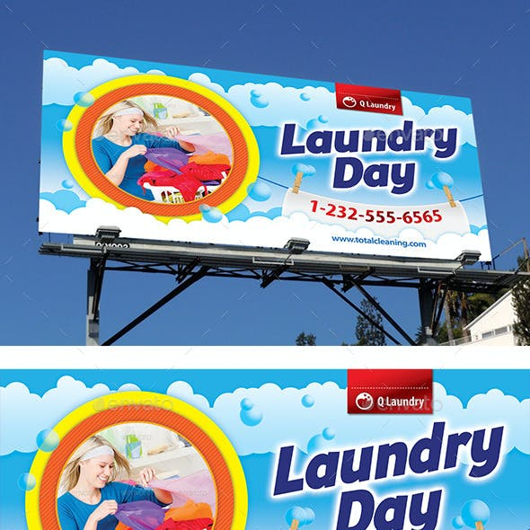 Laundry Service Outdoor Banner 58