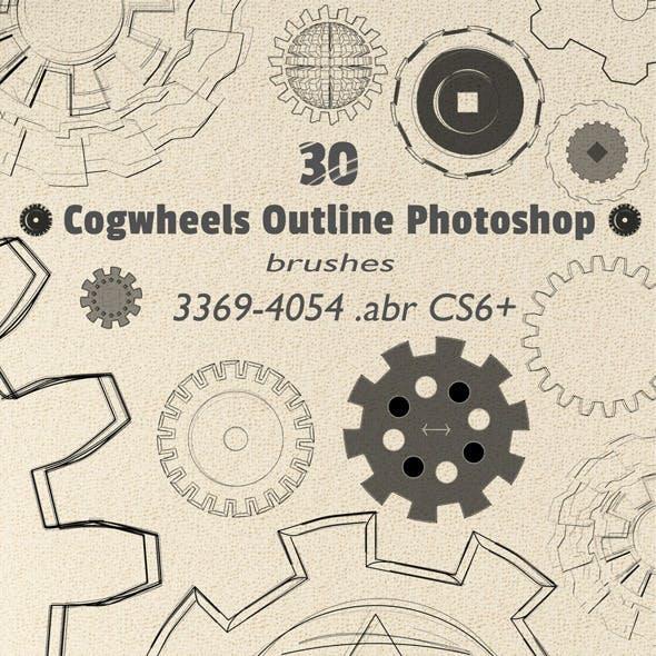 Cogwheel Photoshop Brushes