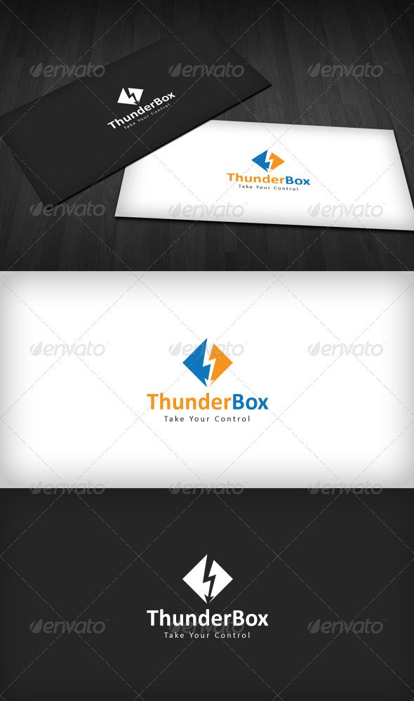 Thunder Box Logo - Symbols Logo Templates