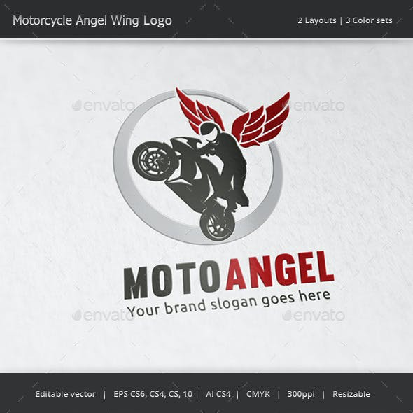 Motorcycle Angel Wing Logo