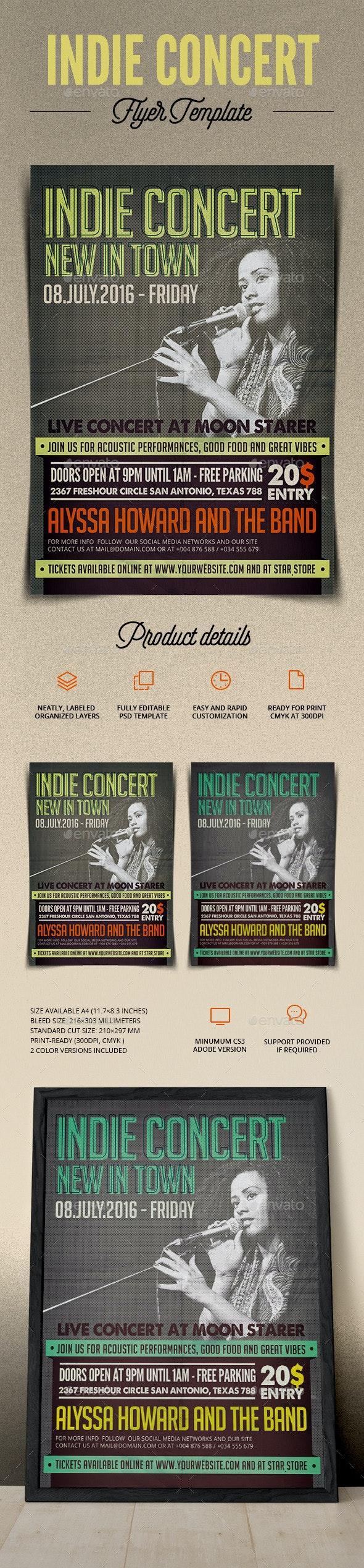 Indie Concert Flyer - Print Templates