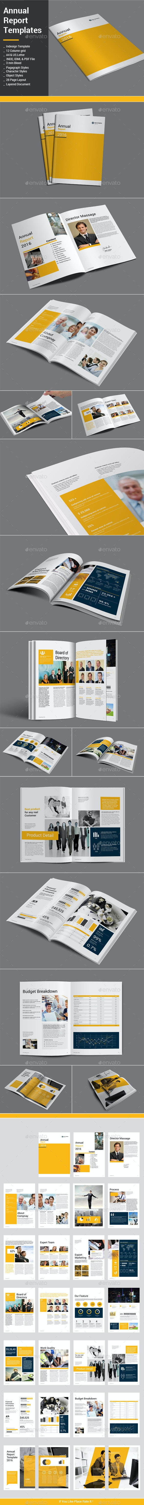 Annual Report Templates - Informational Brochures