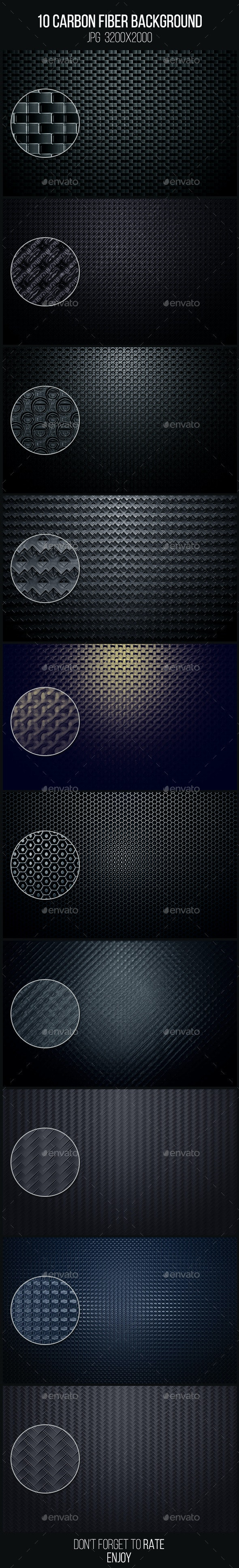 10 Carbon Fiber Background - Abstract Backgrounds