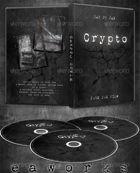 Crypto Cover & Label Template - Miscellaneous Print Templates