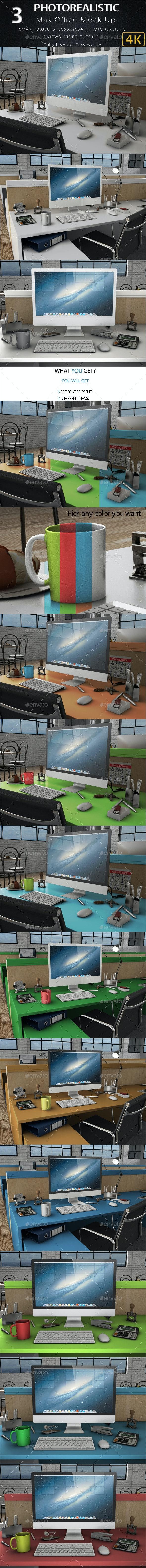 3D iMak Office mock - Product Mock-Ups Graphics