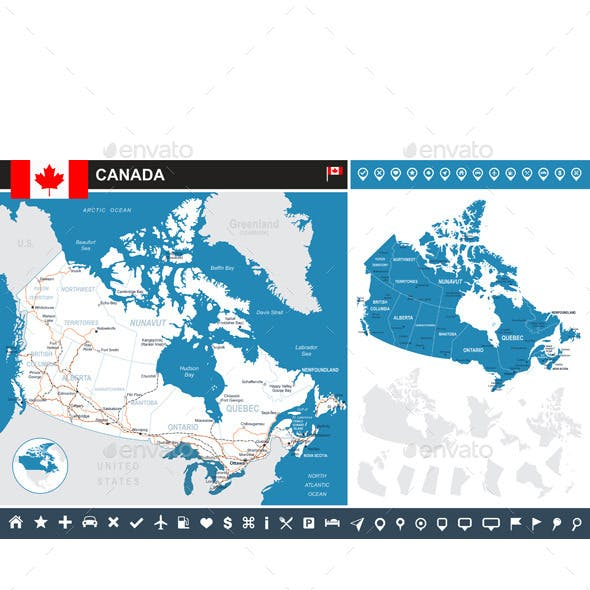 Canada Infographic Map