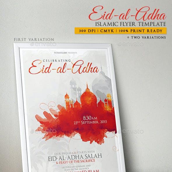 Eid-al-Adha Islamic Celebration Poster/Flyer