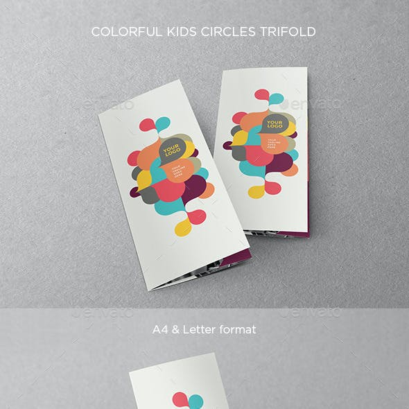 Colorful Kids Circles Trifold