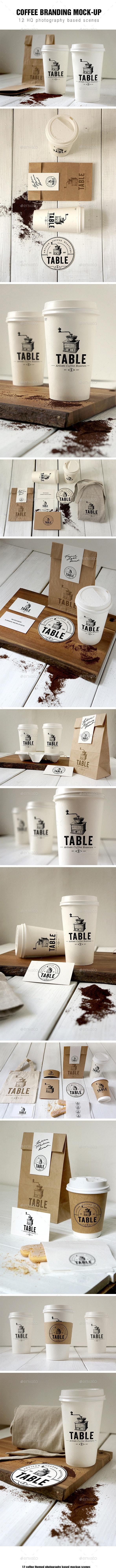 Coffee Branding Mockup - Food and Drink Packaging