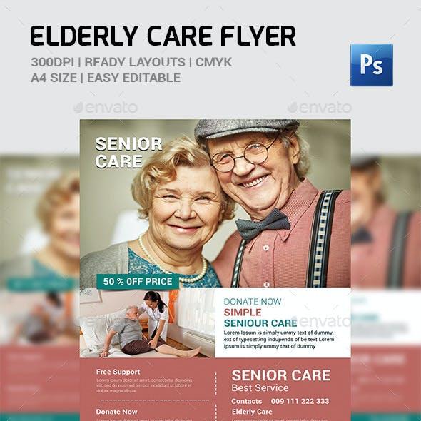 Elderly Care: Flyer Template