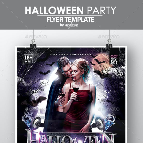 Halloween Party Flyer / Poster Template