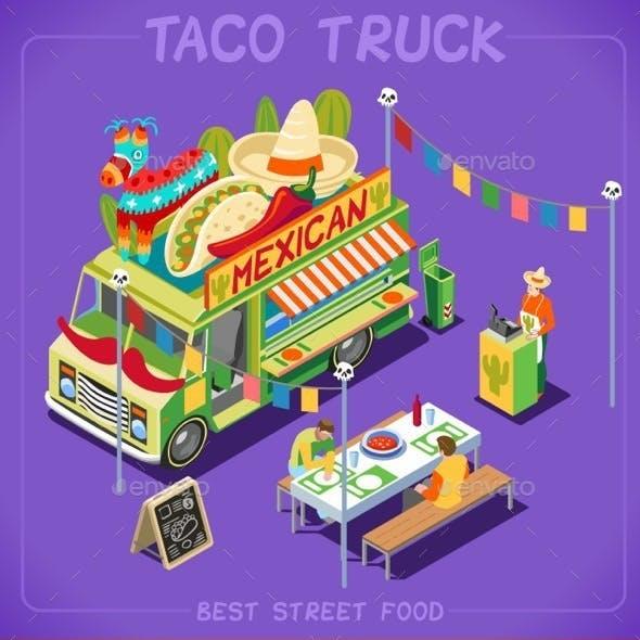 Food Truck 07 Vehicle Isometric