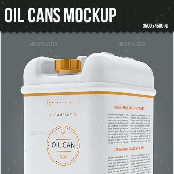Oil Cans Mock-up