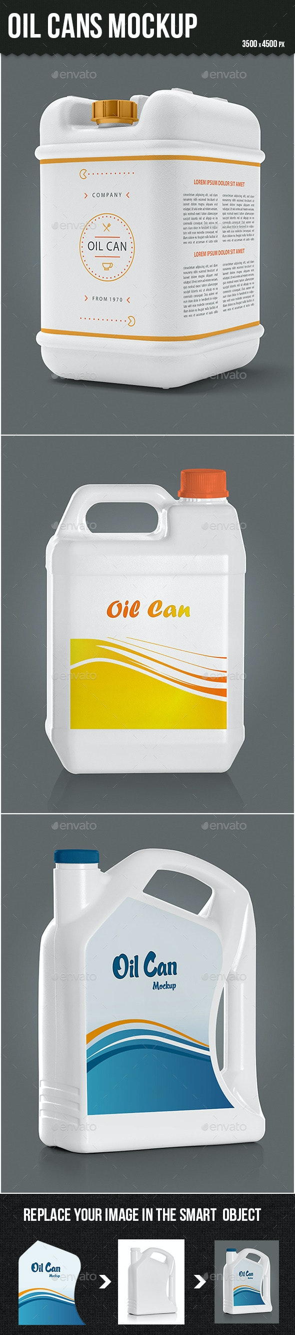 Oil Cans Mock-up - Food and Drink Packaging