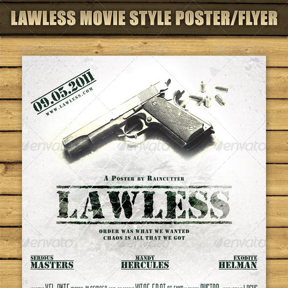 Lawless Movie Style Poster/Flyer