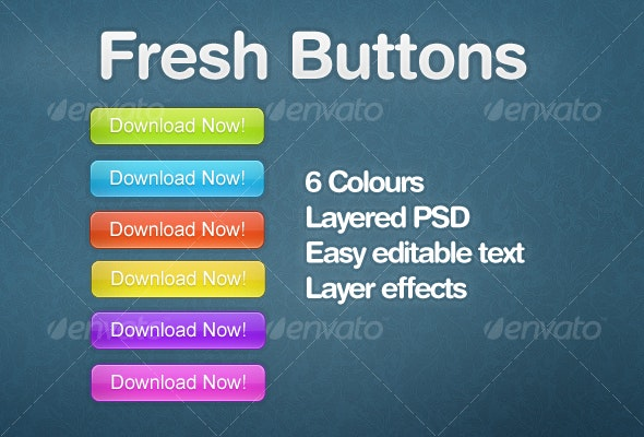 Fresh Buttons - Buttons Web Elements