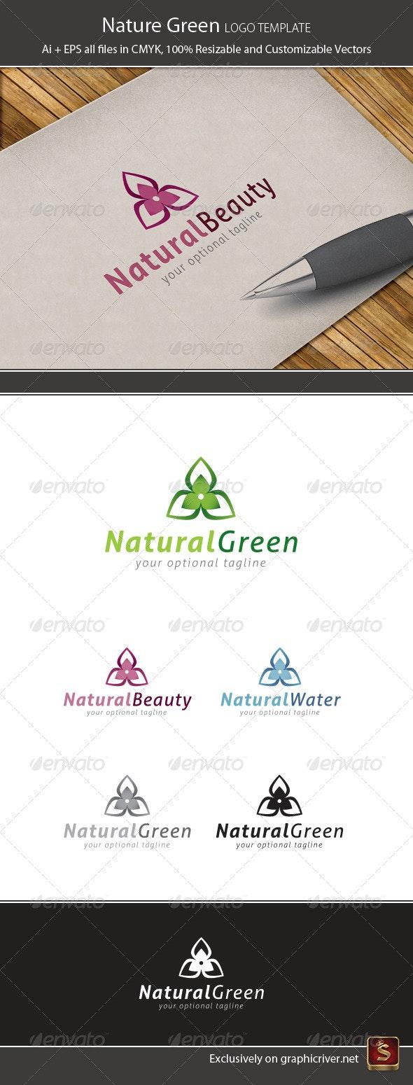 Nature Green Logo Template - Vector Abstract