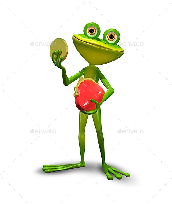 Frog with a Purse - Animals Illustrations