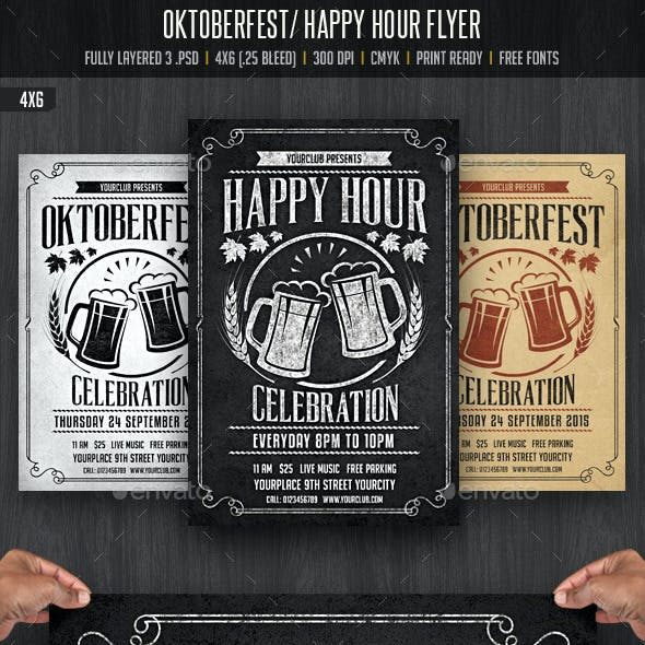 Oktobefest / Happy Hour Flyer