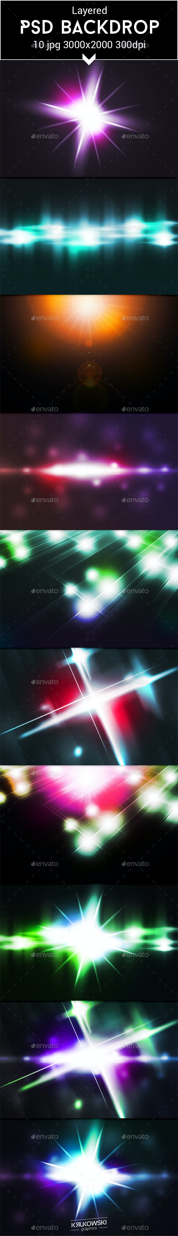 Light Flare PSD Backdrop - Miscellaneous Backgrounds